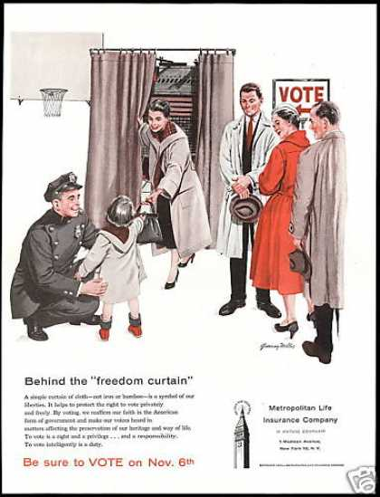 Political Voting Machine Metropolitan Insurance (1956)