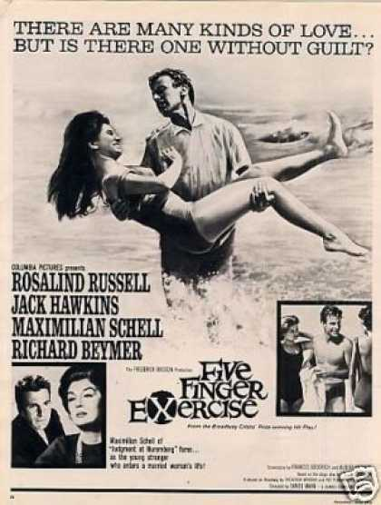 "Movie Ad ""Five Finger Exercise"" Rosalind Russell (1962)"