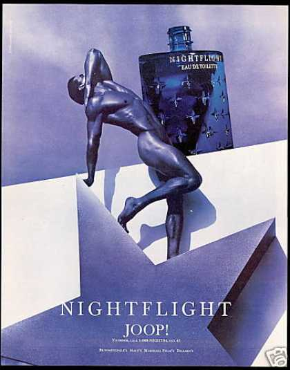 Nude Naked Man Nightflight Joop Eau De Toilette (1995)