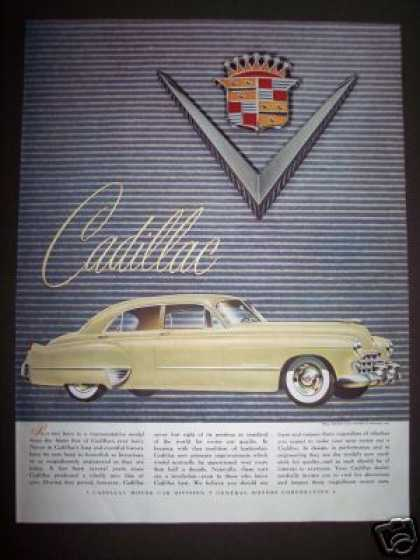 Original Cadillac Motor Car Ad Gm (1948)
