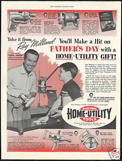 Ray Milland Photo Home Utility Electric Tools (1950)