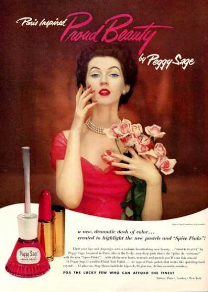 Peggy Sage Beauty Finger Nail Polish Alexander (1952)