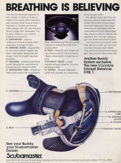 Scubamaster Veb Regulator Scuba Diving T (1979)