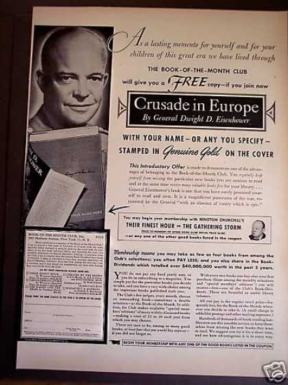 Crusade In Europe Eisenhower Book Promo (1949)