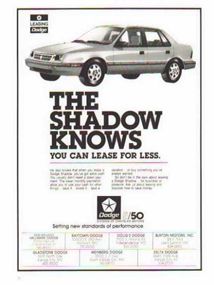 Dodge Car – Dodge Shadow (1986)