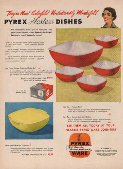 Pyrex Ware Hostess Dishes (1949)