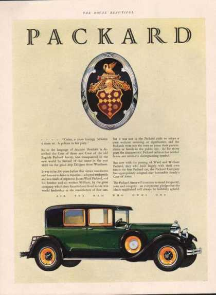 Ask the Man Who Owns One Packard Car (1928)
