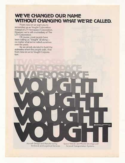 LTV Aerospace Change Name to Vought Corp (1976)