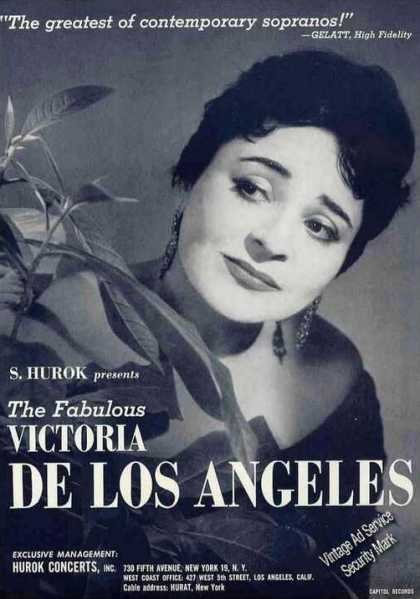 Victoria De Los Angeles Photo Soprano Trade (1961)