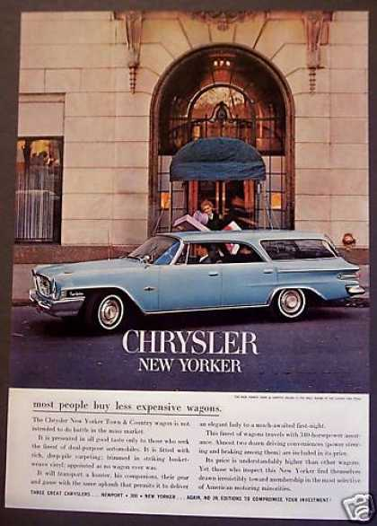 Blue Chrysler New Yorker Car Auto (1962)