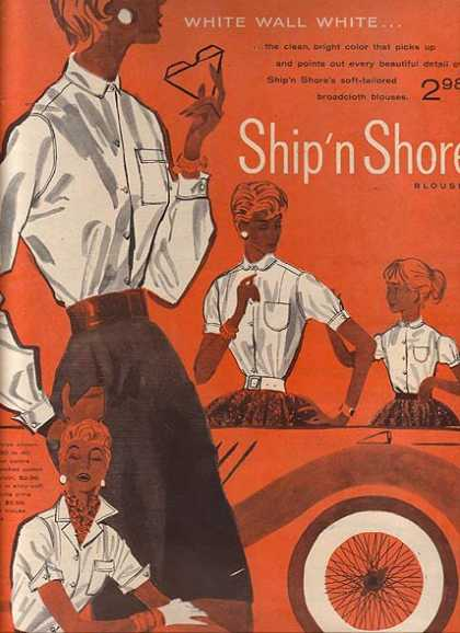Ship'n Shore's White Wall White Blouses (1954)