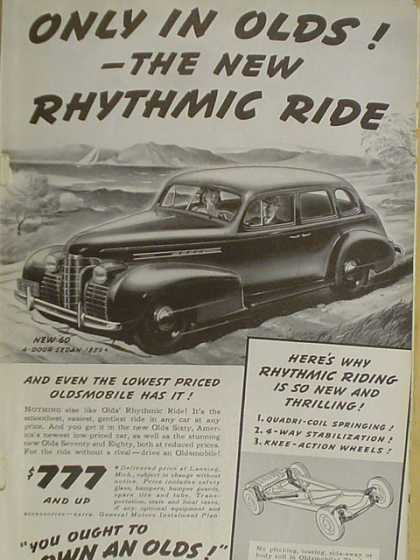 Oldsmobile Olds The new Rhythmic ride (1939)