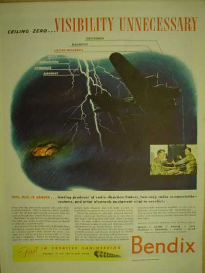 Bendix. War Airplane theme. Visibility unnecessary (1944)