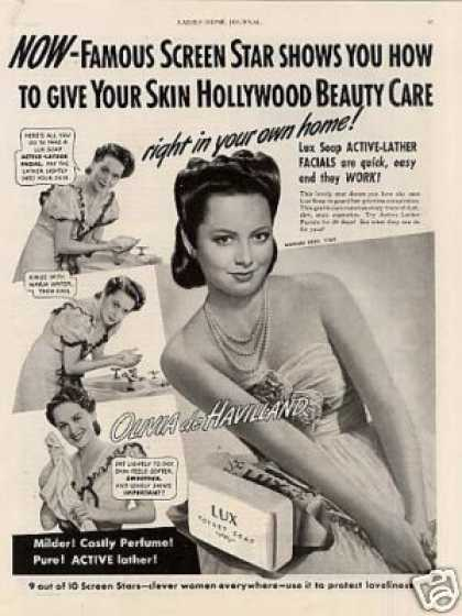 Lux Soap Ad Olivia De Havilland (1941)