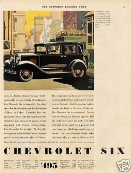 Chevrolet Club Sedan Color Ad 2 Page (1930)