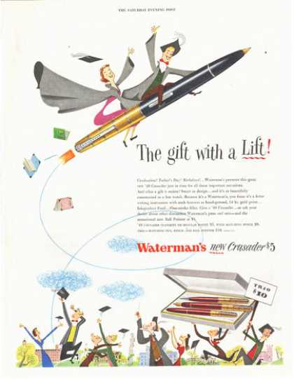 Waterman Crusader Pen Pencil Print (1949)