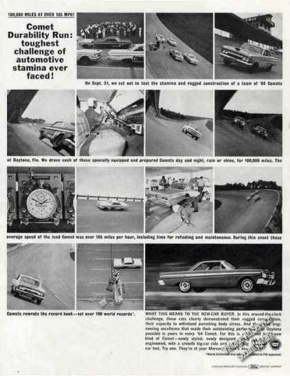 Mercury Comet 100m Miles at Over 105 Mph Photos (1964)