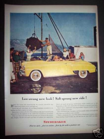 Original Studebaker Convertible Car Fishing (1948)