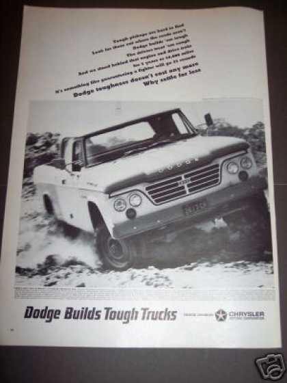 Dodge Builds Tough Trucks Car (1964)