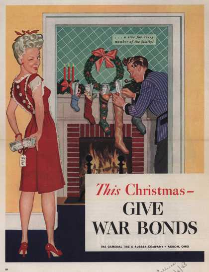 General Tire & Rubber Company's War Bonds – This Christmas – GIVE WAR BONDS (1943)