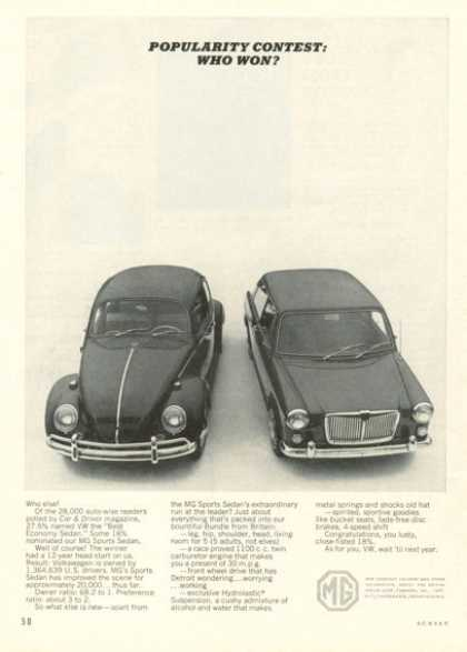 Mg Sports Sedan Vw Comparison (1965)