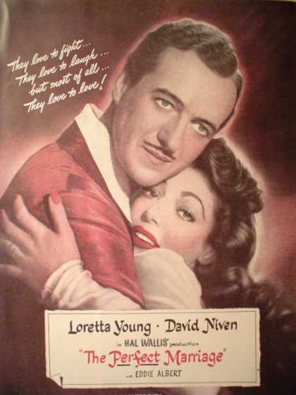 Movie The Perfect Marriage David Niven Loretta Young (1947)