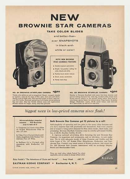 Kodak Brownie Starflash Starflex Cameras Trade (1957)