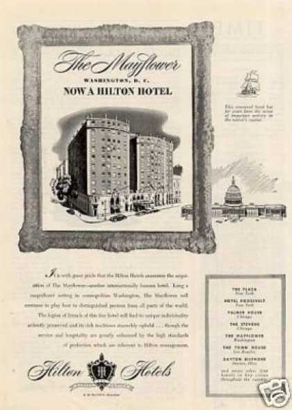 Hilton Mayflower Hotel Ad Washington, Dc (1947)