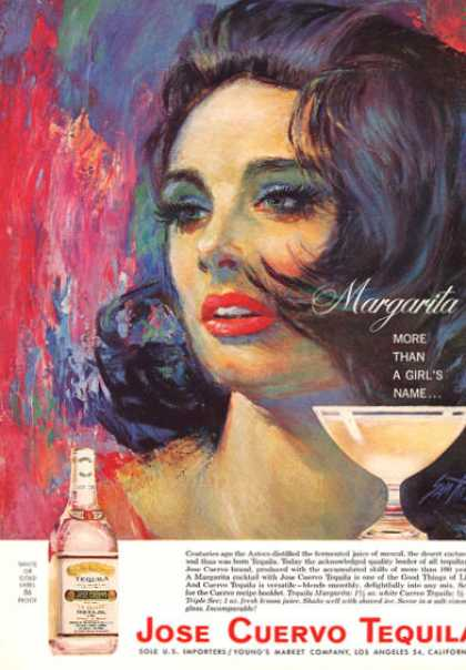 Jose Cuervo Tequila Margarita Girl Art (1964)