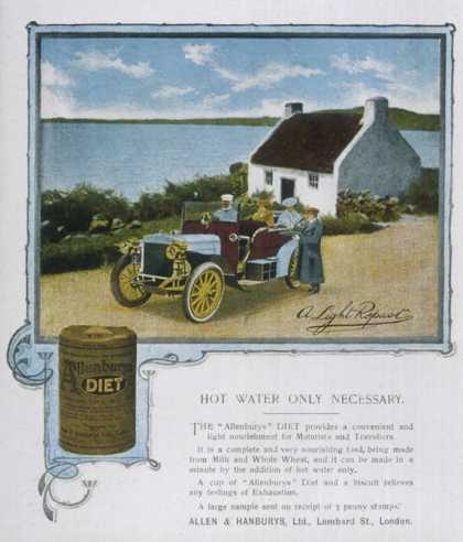 "Allen and Hanbury's ""Diet"" Health Drink, Just Mix with Hot Water"