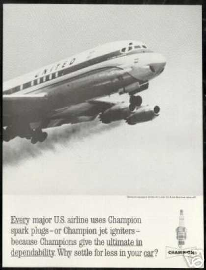 United Airlines DC-8 DC8 Takeoff Photo Champion (1962)