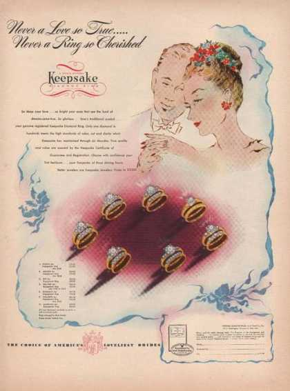 Keepsake Diamond Ring (1946)