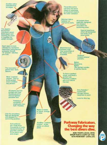 Parkway Scuba Diving Dive Suit T (1978)