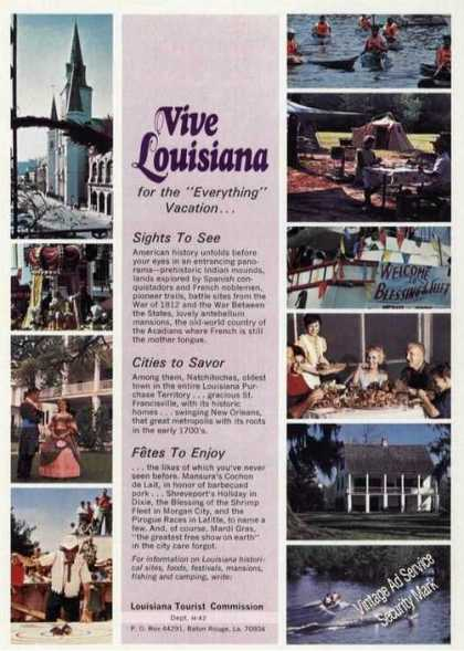 Vive Louisiana Photos (10) Travel (1972)