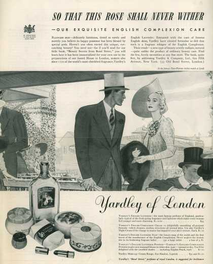 Yardley & Co., Ltd.'s Yardley's English Lavender – So That This Rose Shall Never Wither (1938)