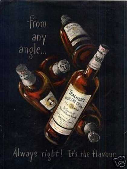 Teacher's Highland Cream Scotch Whisky (1952)