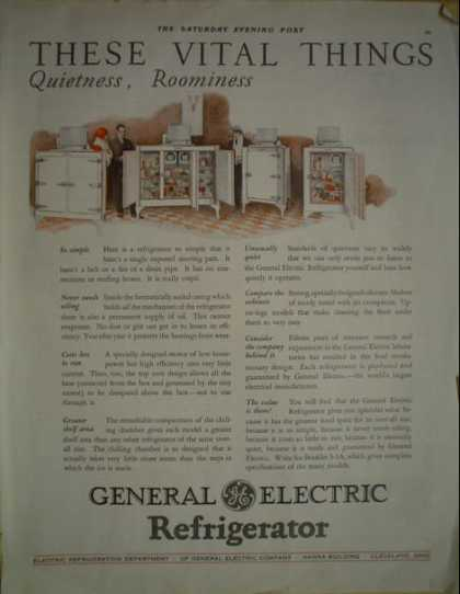 General Electric Refrigerator Quietness (1928)