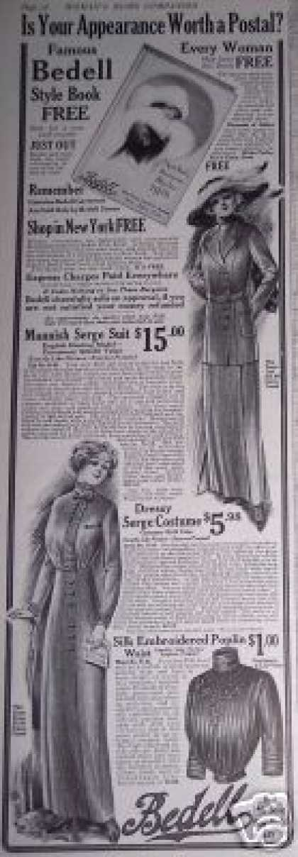 Fashion Bedell Free Style Book Offer (1912)