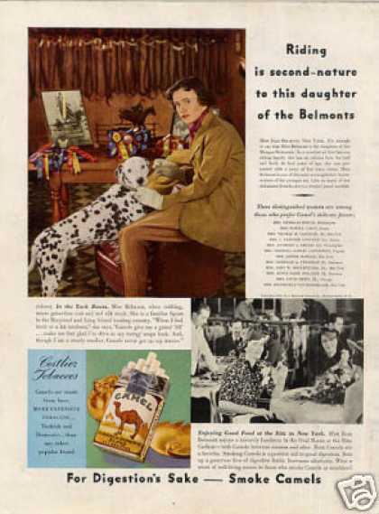 Camel Cigarettes Ad Dalmatian (1937)