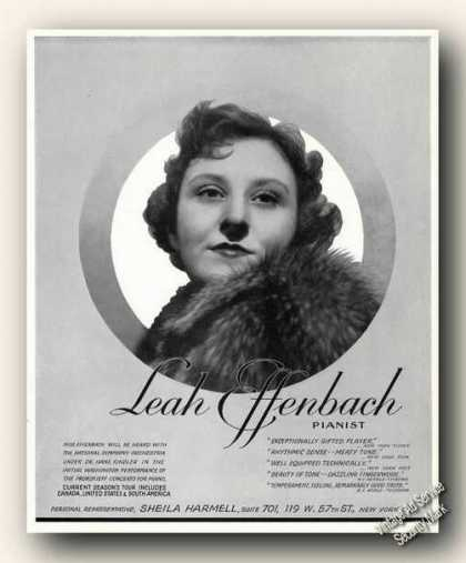 Leah Effenbach Photo Piano Antique Photo (1942)