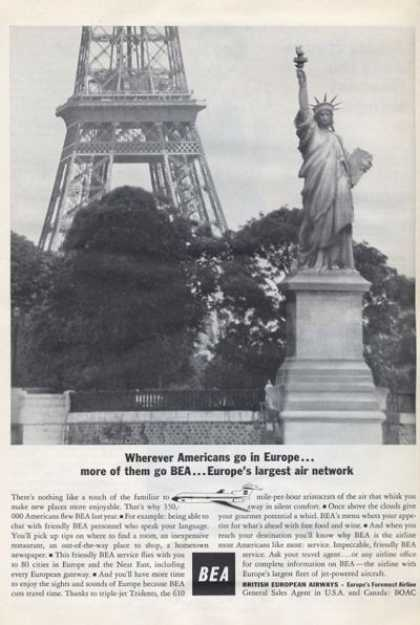 Bea British European Airways Eiffel (1965)
