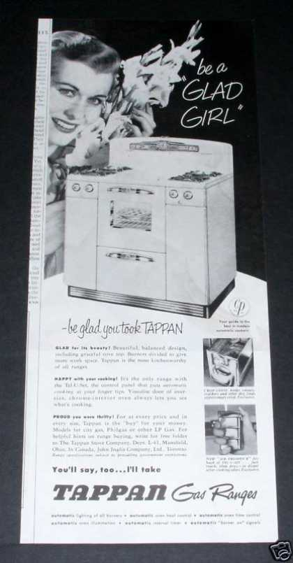 Tappan Gas Range Be a Glad Girl (1951)