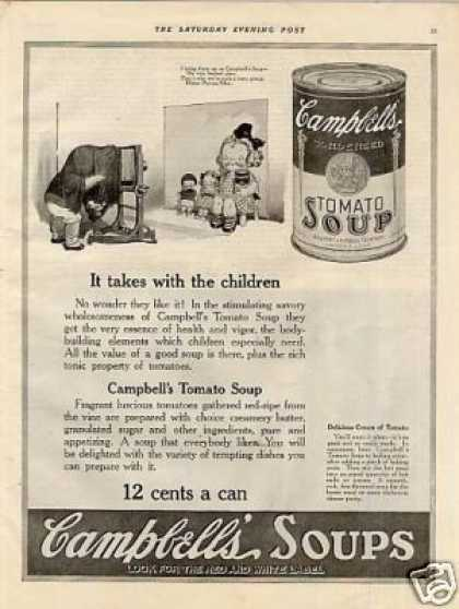 "Campbell's Soup Ad ""It Takes With Children... (1921)"