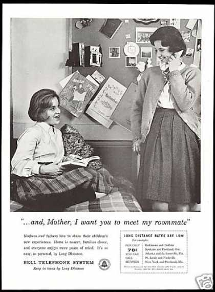 School Girl Roommates Bell Telephone System (1961)