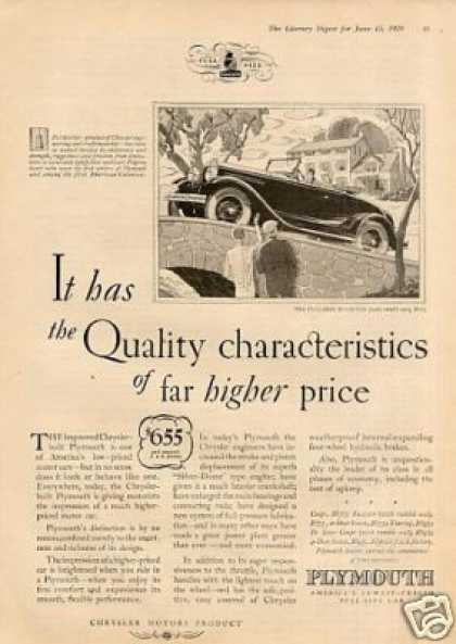 Plymouth Roadster Car Ad 2 Page (1929)
