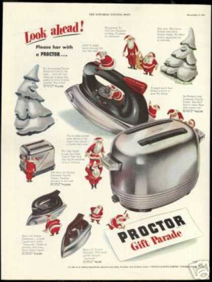 Proctor Appliances Santa Toaster Iron (1948)
