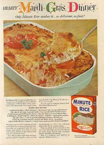 Minute Rice's Long Grain White Rice (1959)