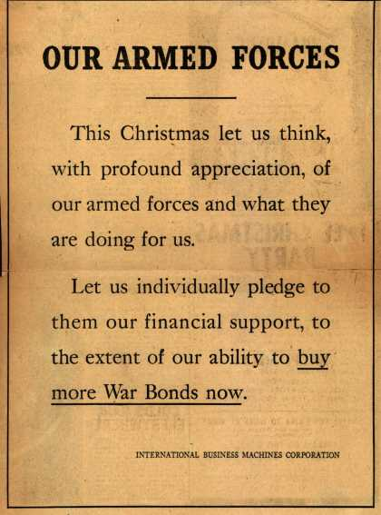 International Business Machines Corp.'s War Bonds – Our Armed Forces (1943)