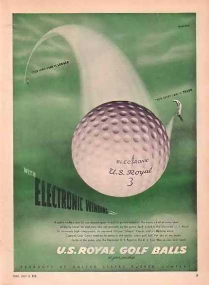 U.S. Royal Golf Balls – Electronic Winding (1951)