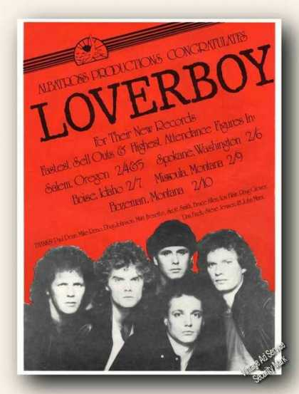 Loverboy Photo Albatross Productions Promo (1982)